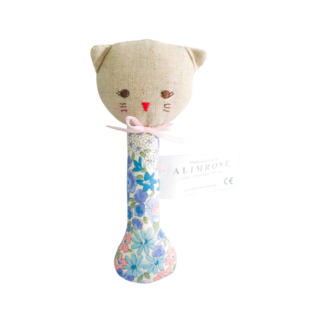 Kitty Grab Rattle - Liberty Blue