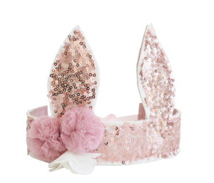 Sequin Bunny Crown