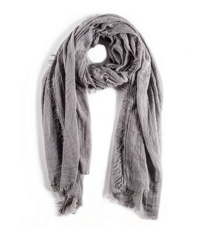 Lightweight Frayed Scarf