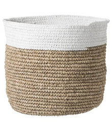 Large Natural & White Baskets
