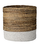 Large Natural Raffia & Banana Leaf Baskets