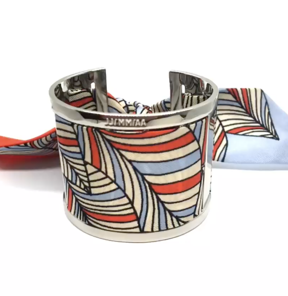Cuff Bracelet with Interchangeable Scarf