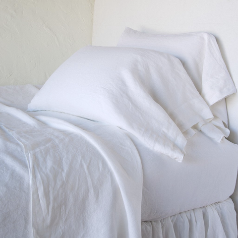 Image of Bella Notte Linens Linen Fitted Sheets Quick Ship - AtHomewithBethandChad.com