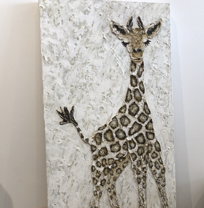 Giraffe 36 x 18.5 Hand Painted Artwork