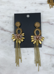 Rose Tassel Earring