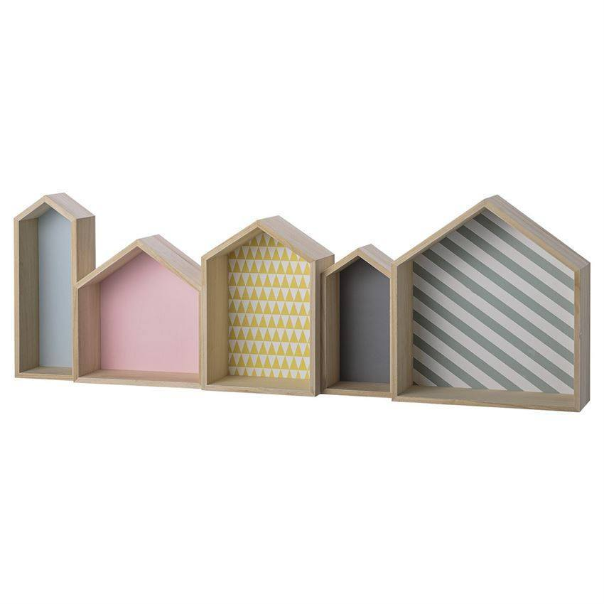 Wood House Shaped Display Box in Pastel Colors - Relish New Orleans