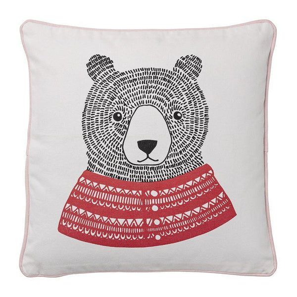 16 inch Square Fabric Pillow with Bear - Relish New Orleans