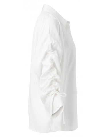 Image of Blouse with Drawstring Sleeves by YAYA Woman