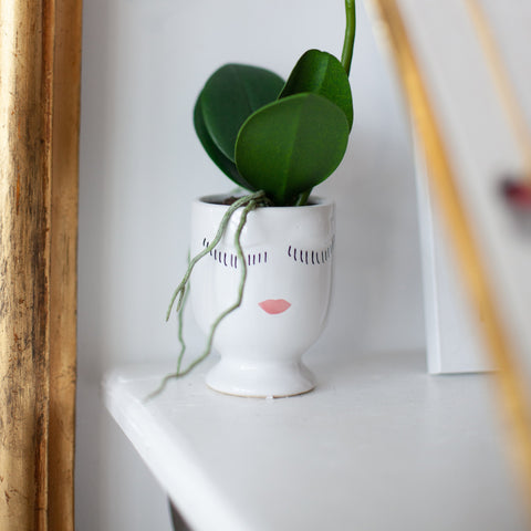 "Image of Celfie Vase in White- 2.75"" x 3.75 """