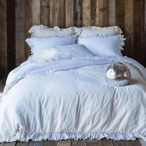 Image of Bella Notte Linens Linen Flat Sheets Quick Ship - AtHomewithBethandChad.com