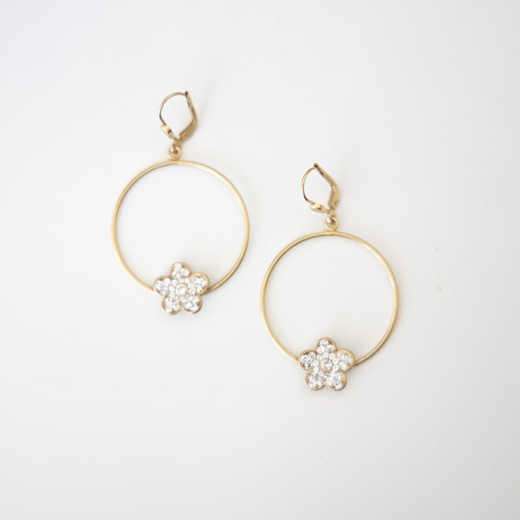 Flower & Hoop Earring