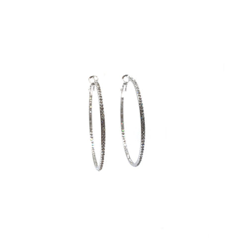 Medium Pave Hoop Earring