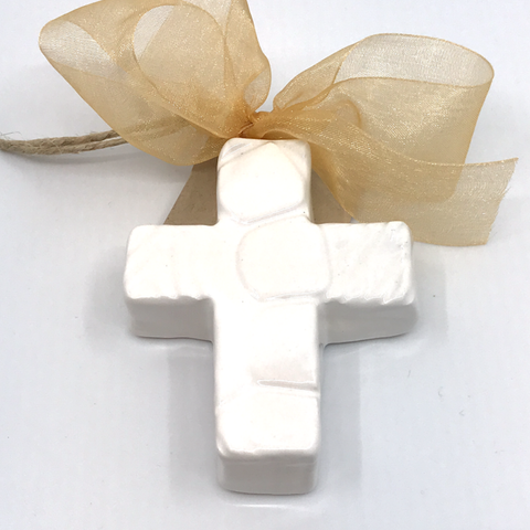 3 inch Glazed Cross