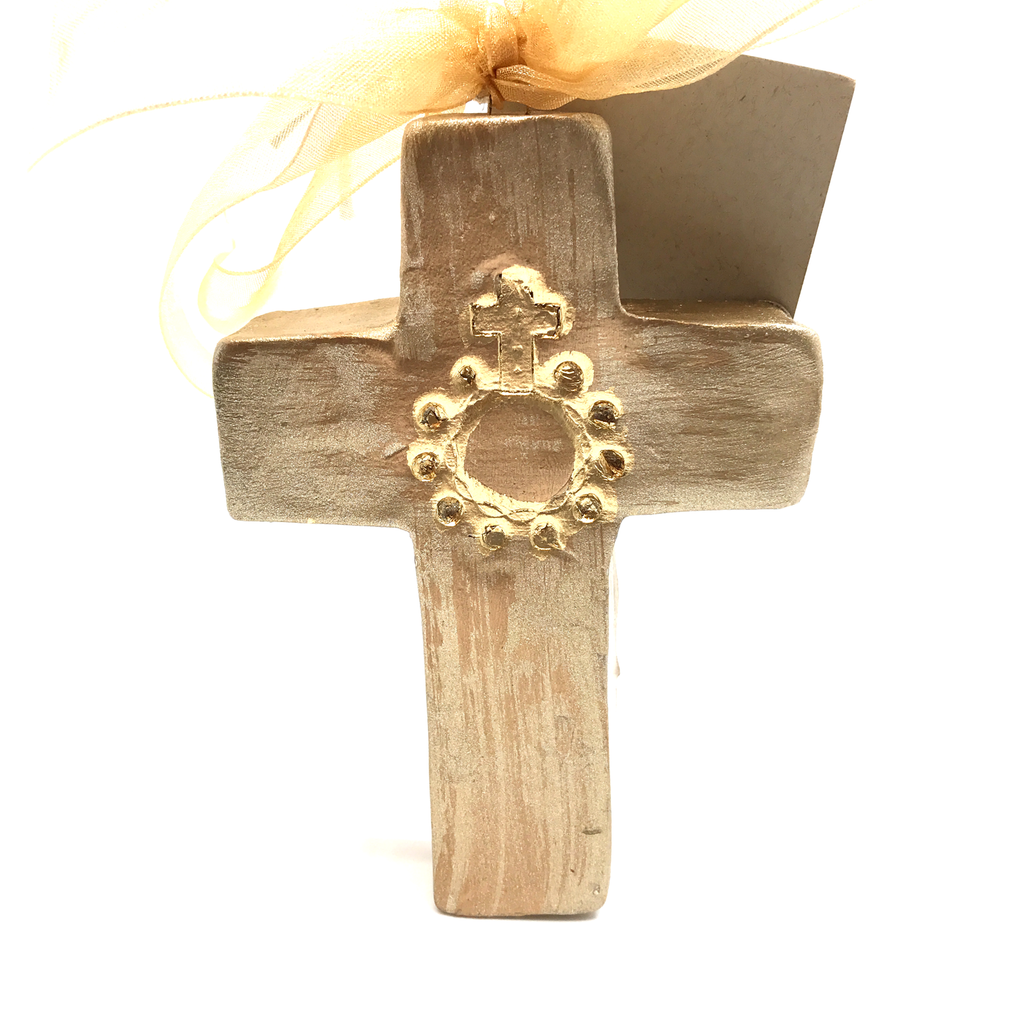 5 inch Glazed Cross