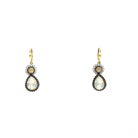 Flower & Teardrop Earring by Catherine Popesco