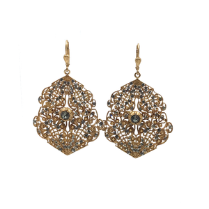 Large Filigree Earrings by Catherine Popesco