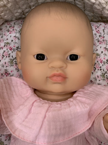 Image of Asian Female Doll with Brown or Blue Eyes