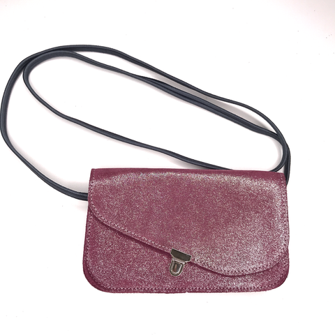 Image of Midi Leather Glitter Pouch