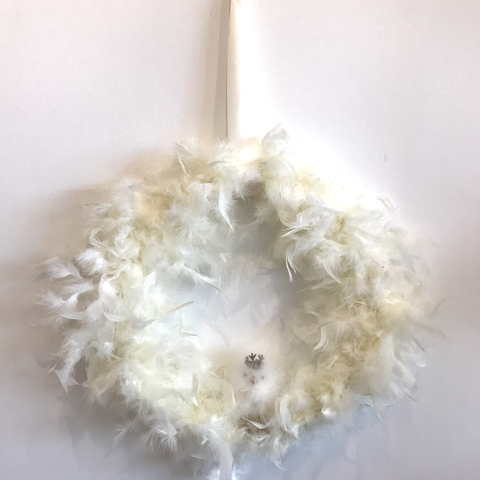 Chick Feather Wreath by Sherri's Design