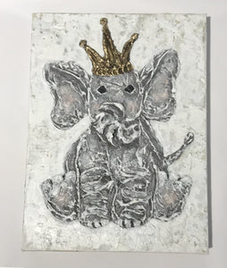 Baby Elephant 9x12 Hand Painted Artwork