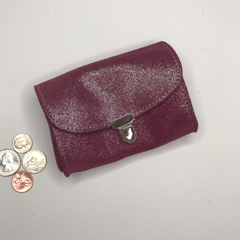 Image of Accordion Coin Purse in Glitter Leather