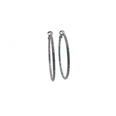 Image of Medium Pave Hoop Earring