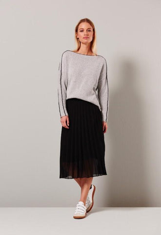 Image of Woven Plisse Skirt with Jersey Lining