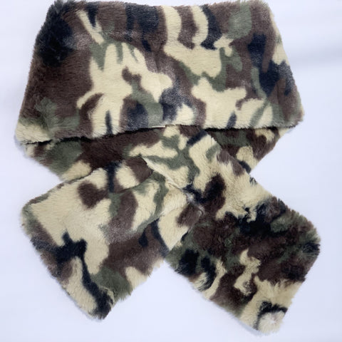 Faux Fur Animal Print Scarf
