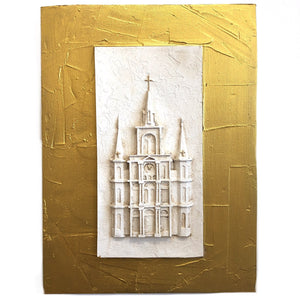 St Louis Cathedral Artwork Gold 10x15