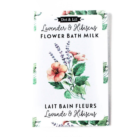 Image of Lavender & Hibiscus Flower Bath Milk Sachet