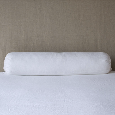 Image of Bella Notte Linens Linen Bolster Body Pillow - AtHomewithBethandChad.com