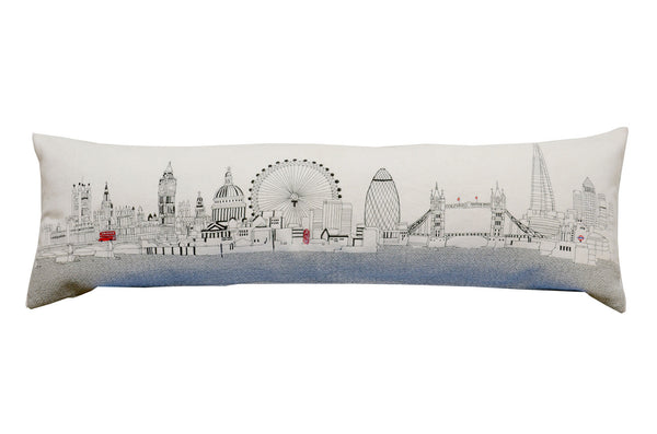 London Embroidered Skyline Cushion Day Time-King Size - Relish New Orleans