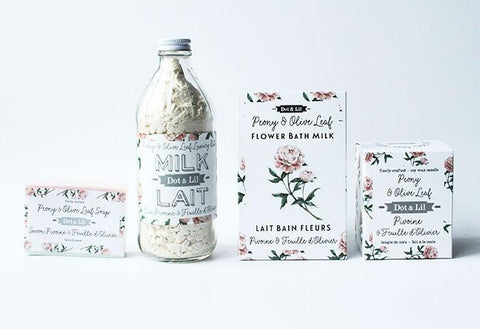 Image of Peony & Olive Leaf Bath Milk Sachet