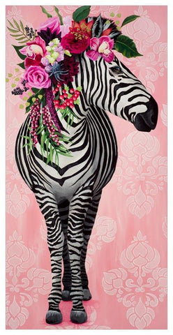 Zebra Wall Art 12x24