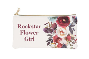 Rockstar Flower Girl Cosmetic Bag