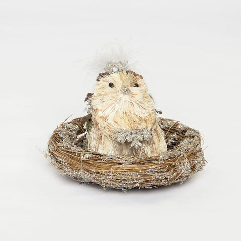 Image of Hedgehog Nest with Gray Boa by Sherri's Design