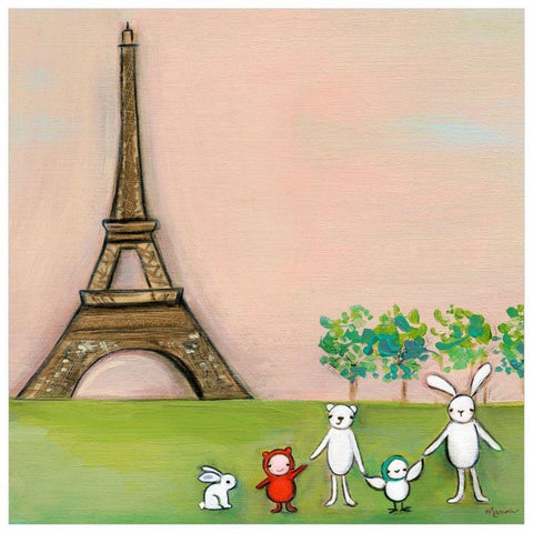We're In Paris 18x18 Canvas