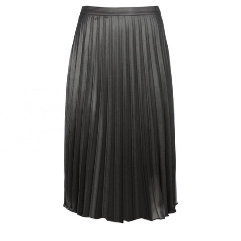 Woven Plisse Skirt with Jersey Lining