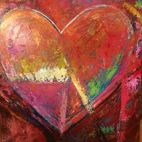 'Coral Heart' Artist Proof 20x20 on canvas