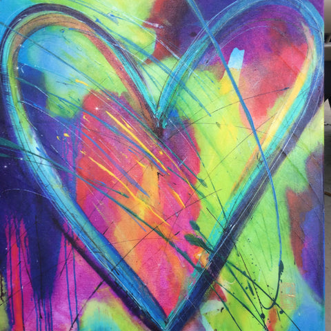'Heart of Many Colors' Artist Proof 20x20 on canvas