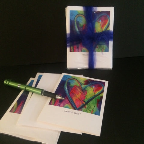Fine Art Heart Notecards