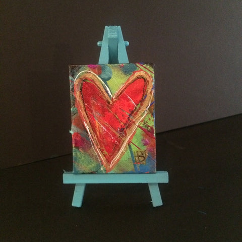 Mini Heart Canvas + Easel