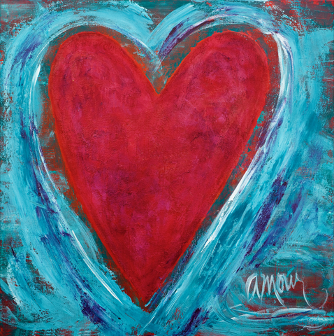 'Amour' 48x48 on canvas