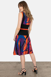 Waist Contrast Insert Dress