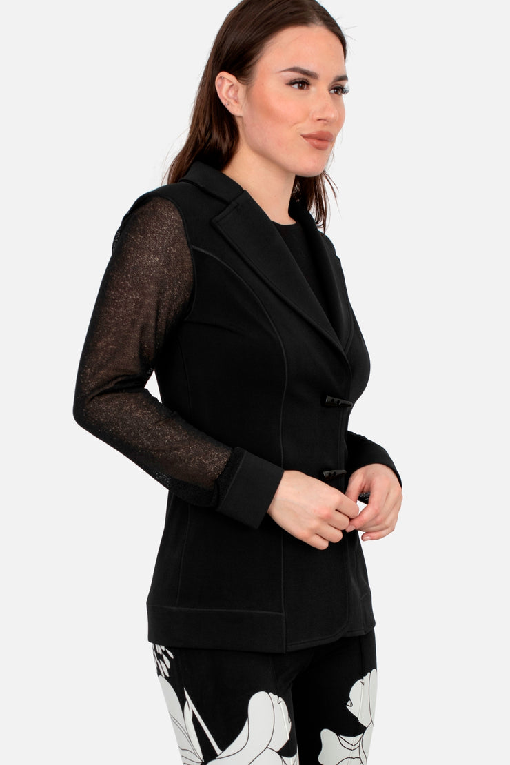See through Sleeve 2 Button Blazer