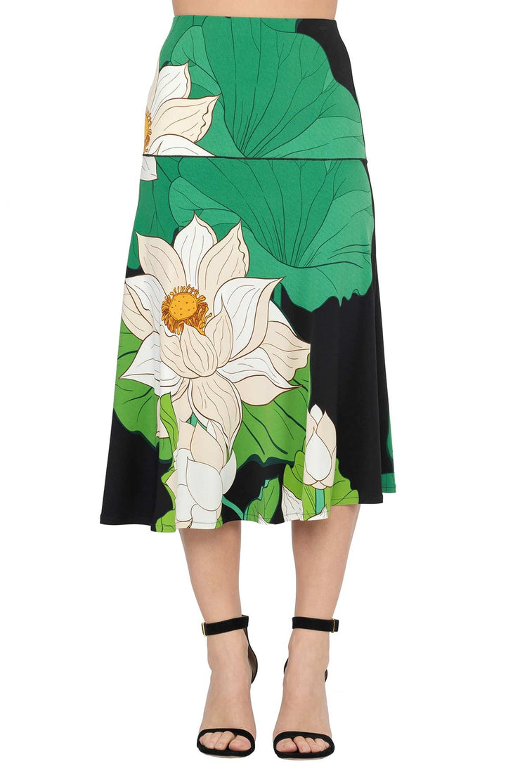 Below Knee Flair Skirt