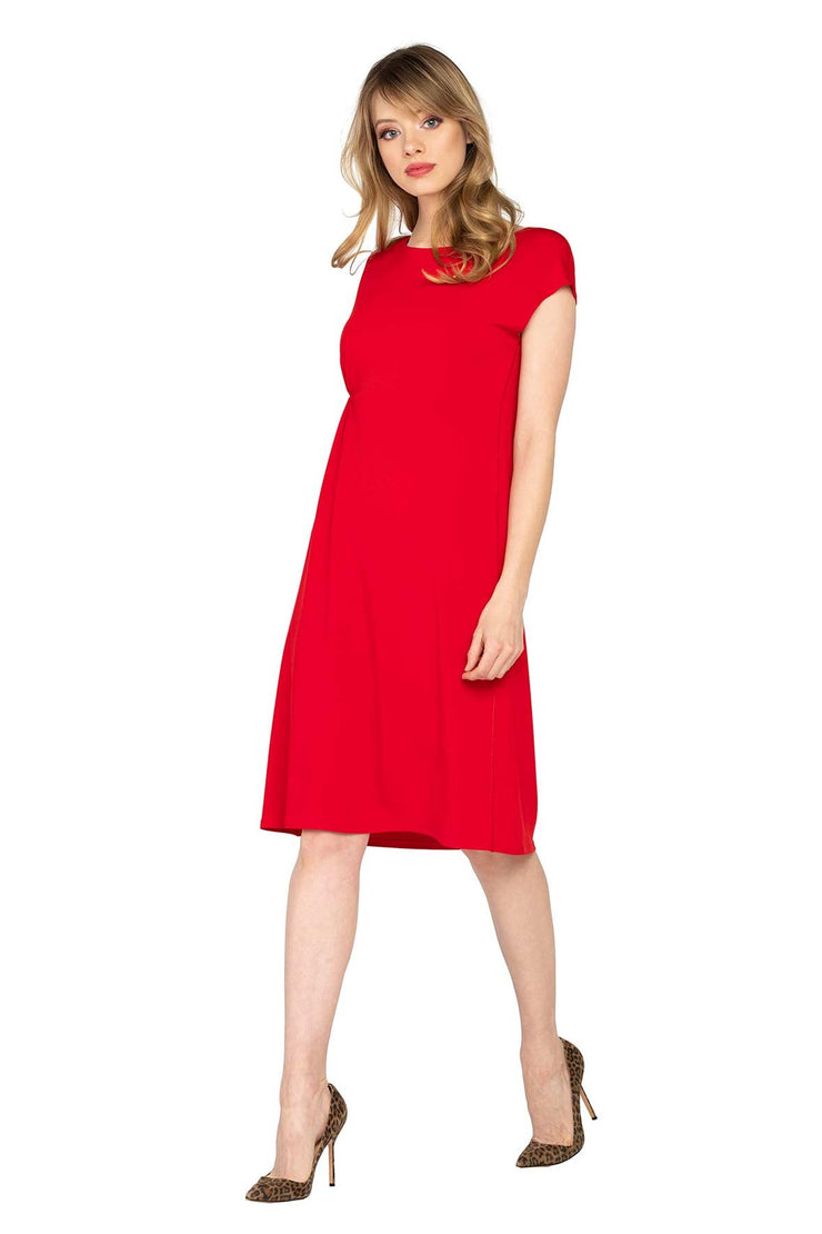 Cap Sleeve Below Knee Sleep Dress