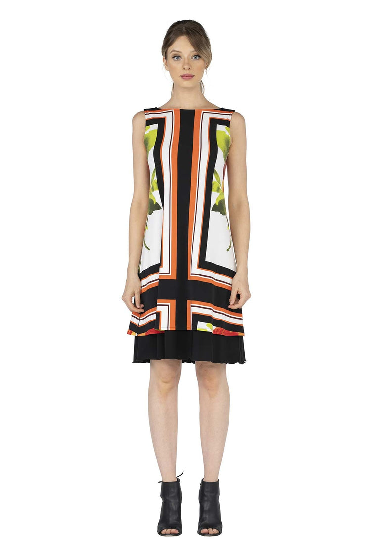 Cut In A Line Dress Reversible Longer Dress