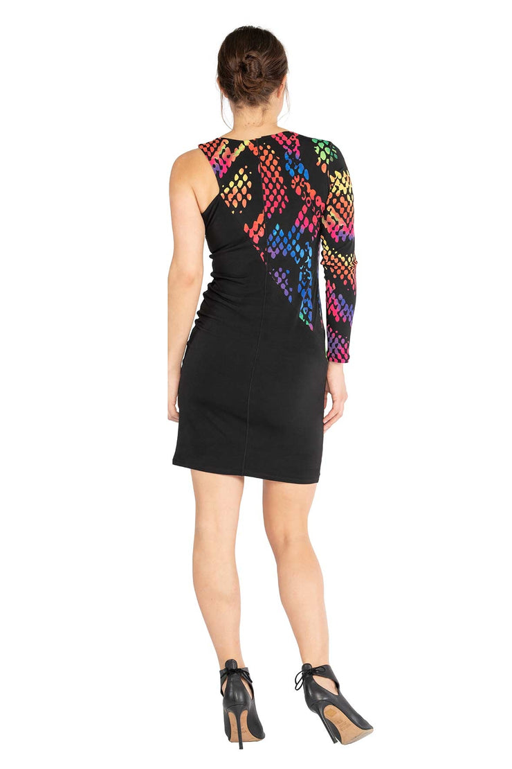 Diagonal Bicolor Dress
