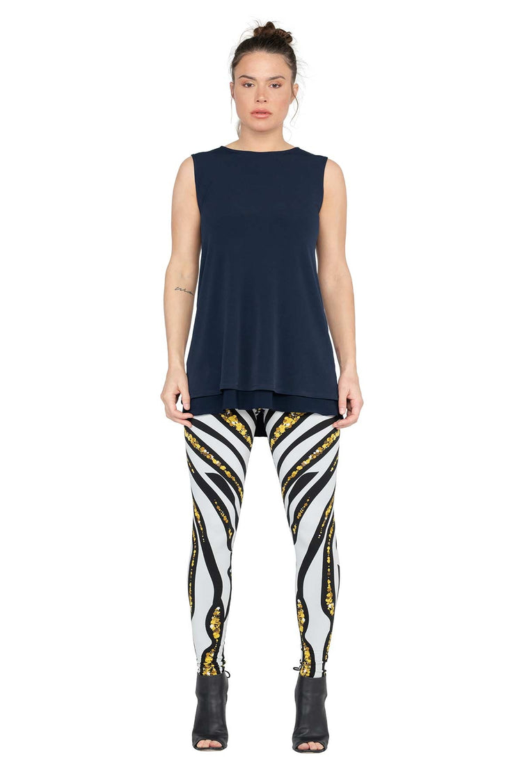 High Waist DBL Layered Leggings